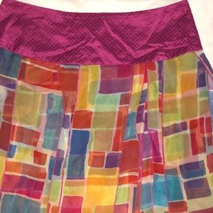 Isabela D. Silk Multicolor Skirt